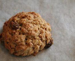 Havre og rosin cookies