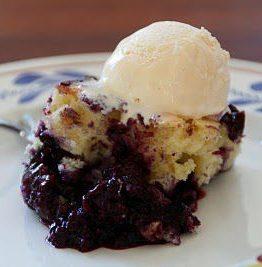 Blåbær kake