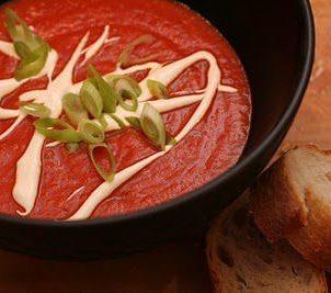 Grillet paprika suppe med futt...