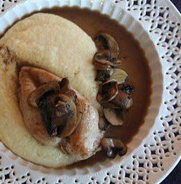 Kylling, polenta og sopp