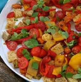 Eltefritt brød salat, eller panzanella som det egentlig heter