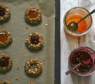 Cookies med syltetøy