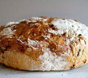 Eltefritt brød med cottage cheese