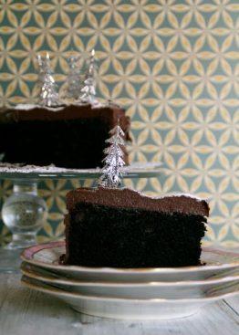 Sjokoladepepperkake med sjokoladepepperkakeglasur