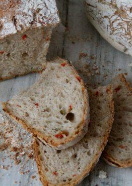 Eltefritt brød med chilli