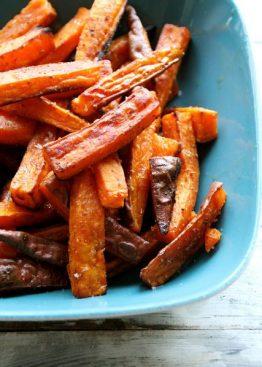 Pommes frites av søtpotet med krydder