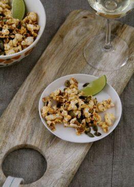Spicy popcorn med gresskarkjerner
