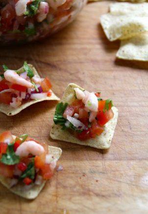 Fingermat - salsa fresca med reker