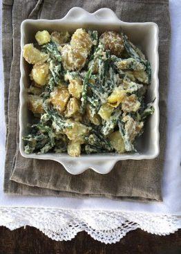 Potetsalat med aspargesbønner