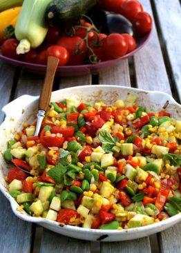 Lun salat med mais og bønner