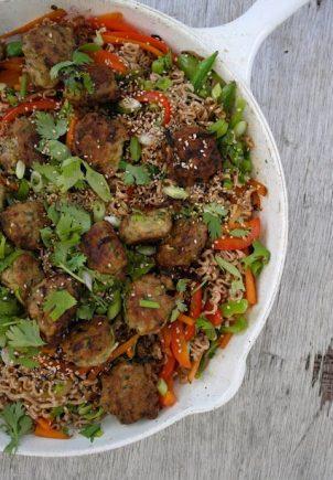Kjøttboller av kylling, kalkun og squash