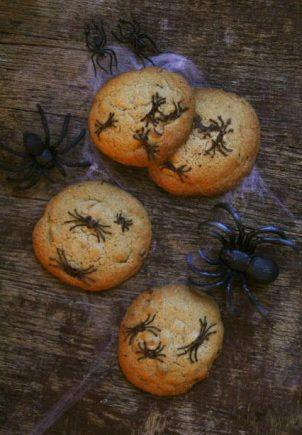 Edderkopp cookies til Halloween!