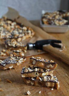 Sjokoladeknekk med cashewnøtter