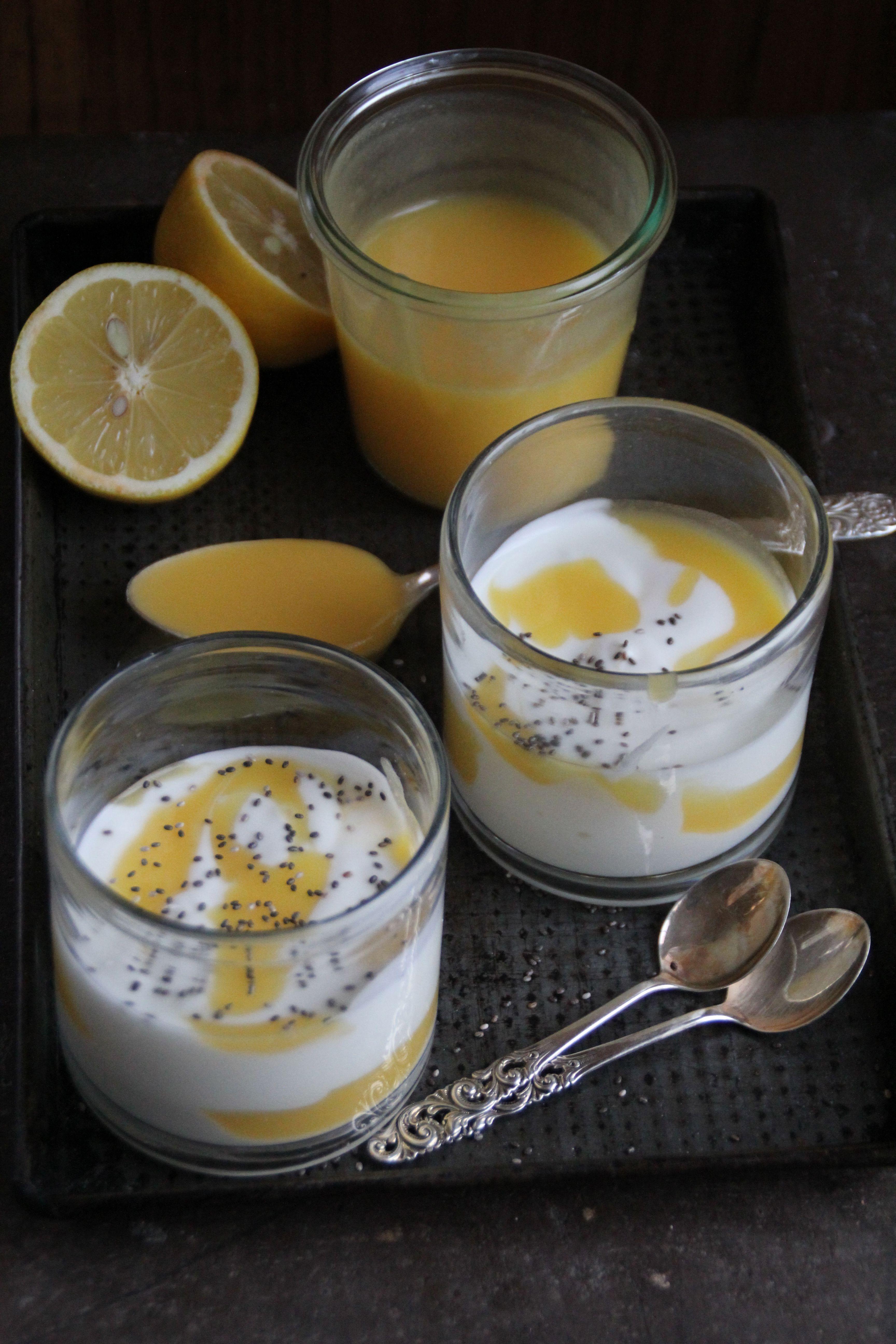 yoghurt & lemon curd