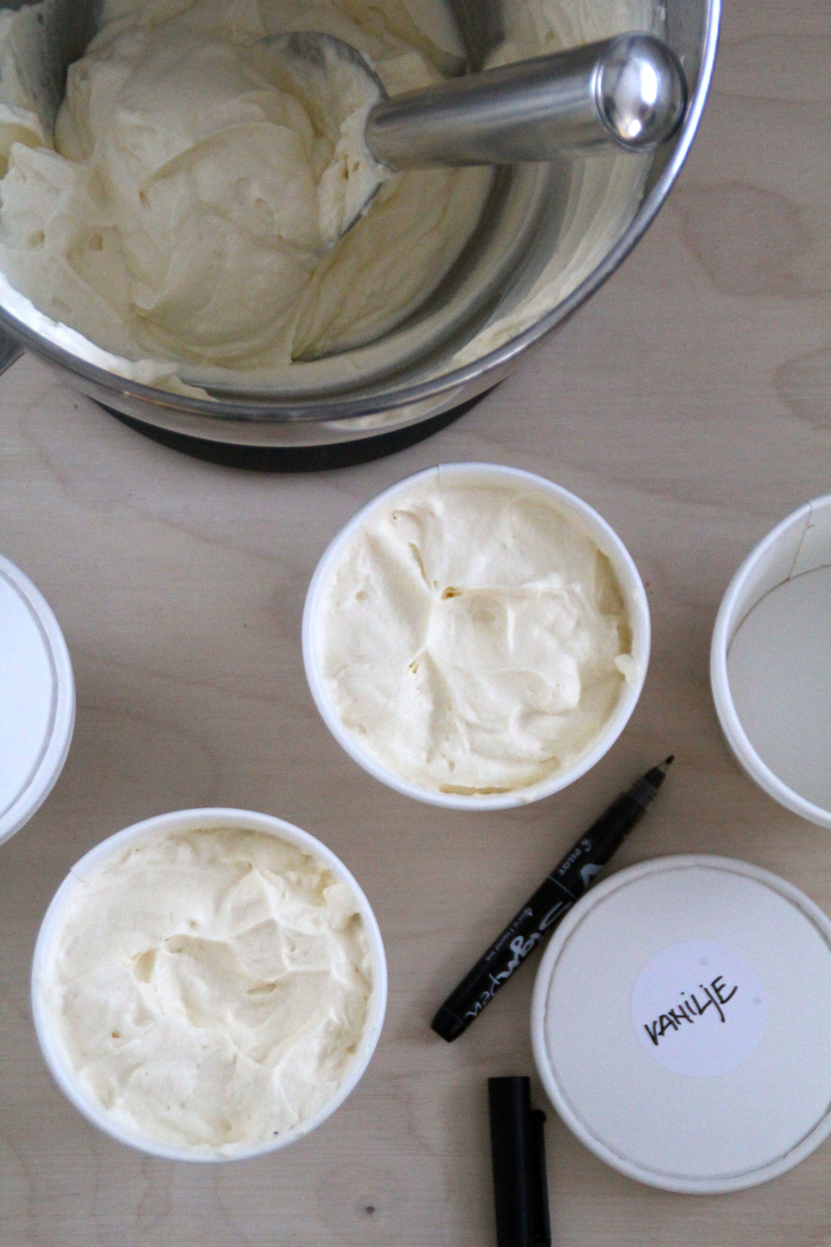 vaniljeis uten iskremmaskin