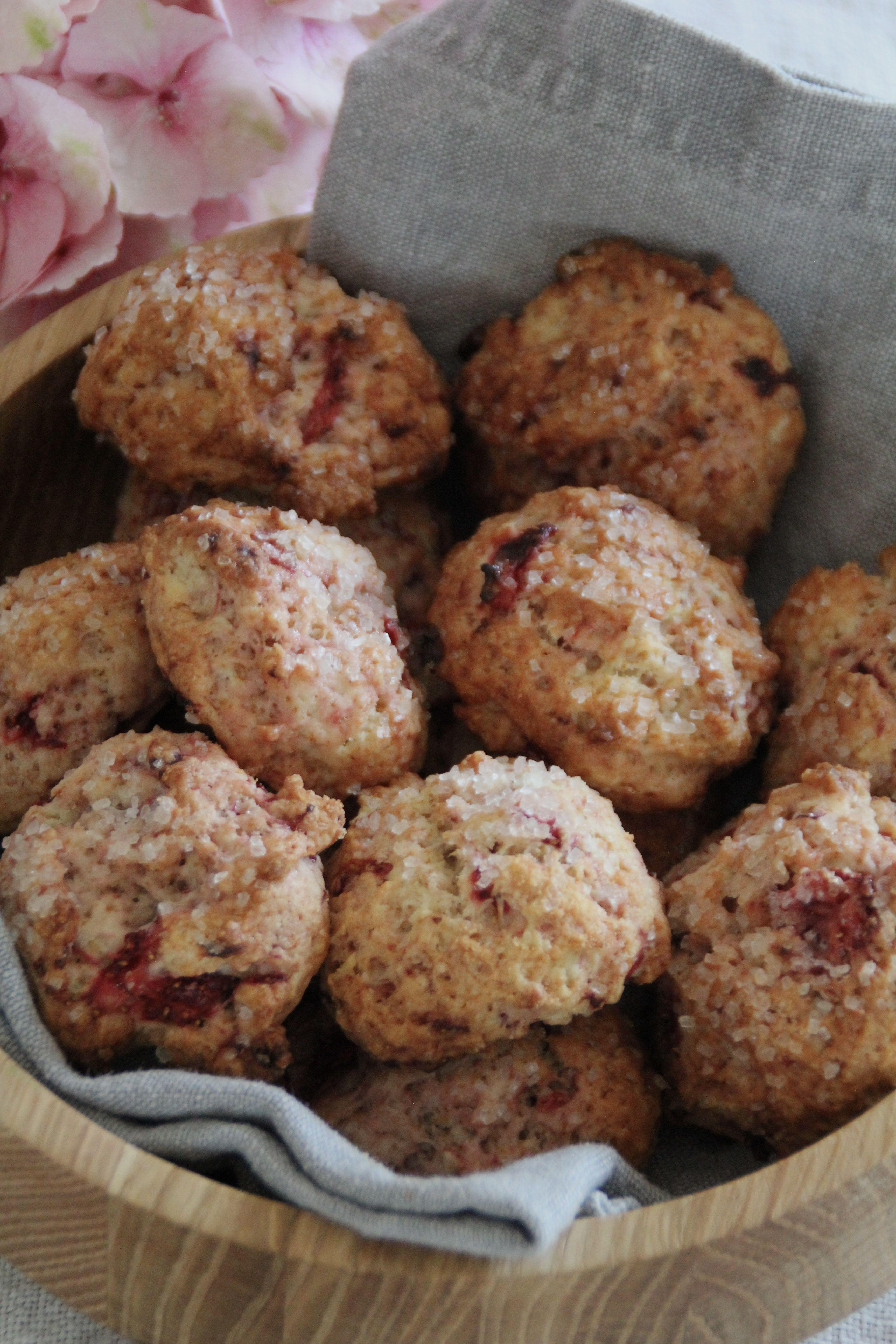 jordbær cookies