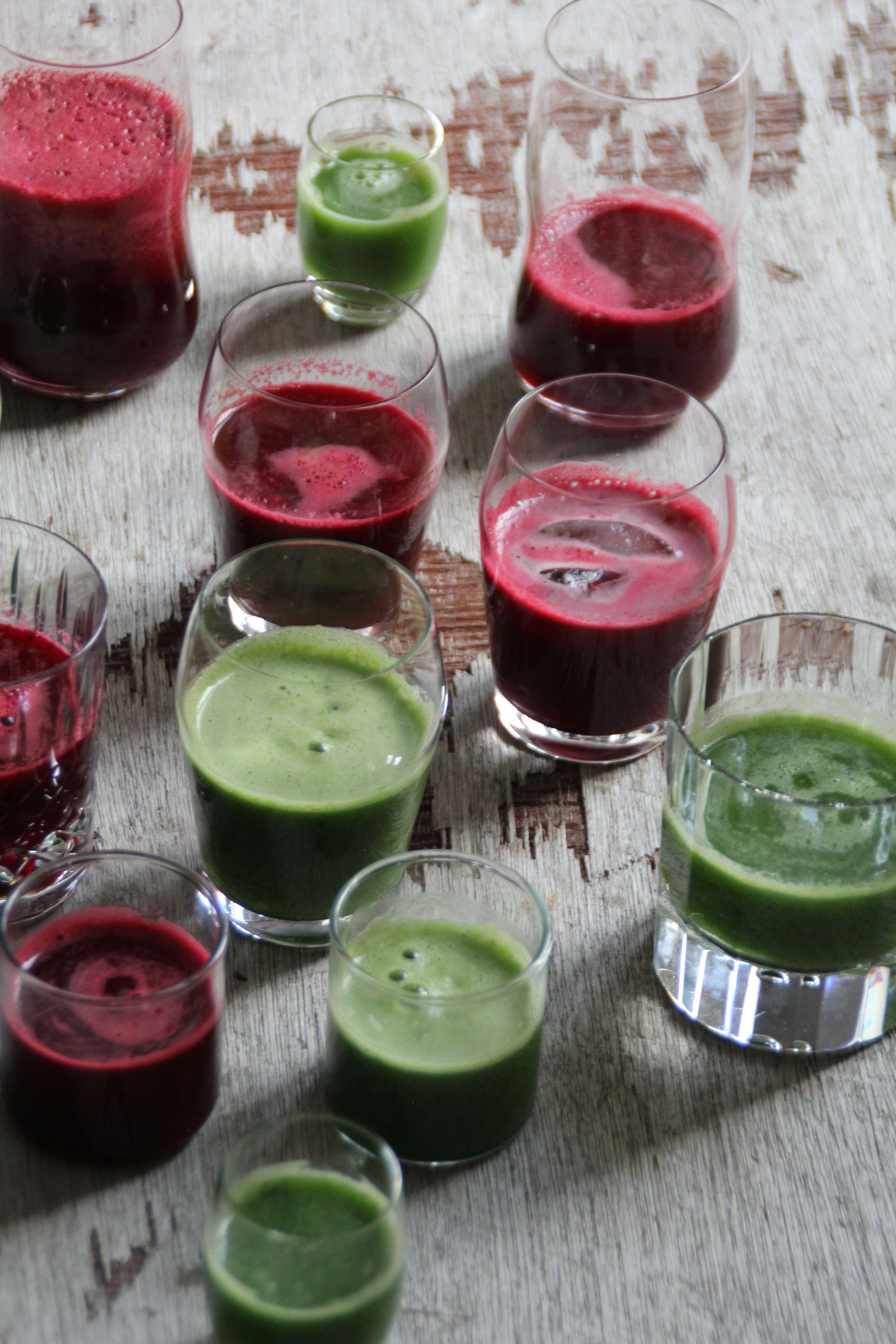 Rødbete- og grønnkåljuice
