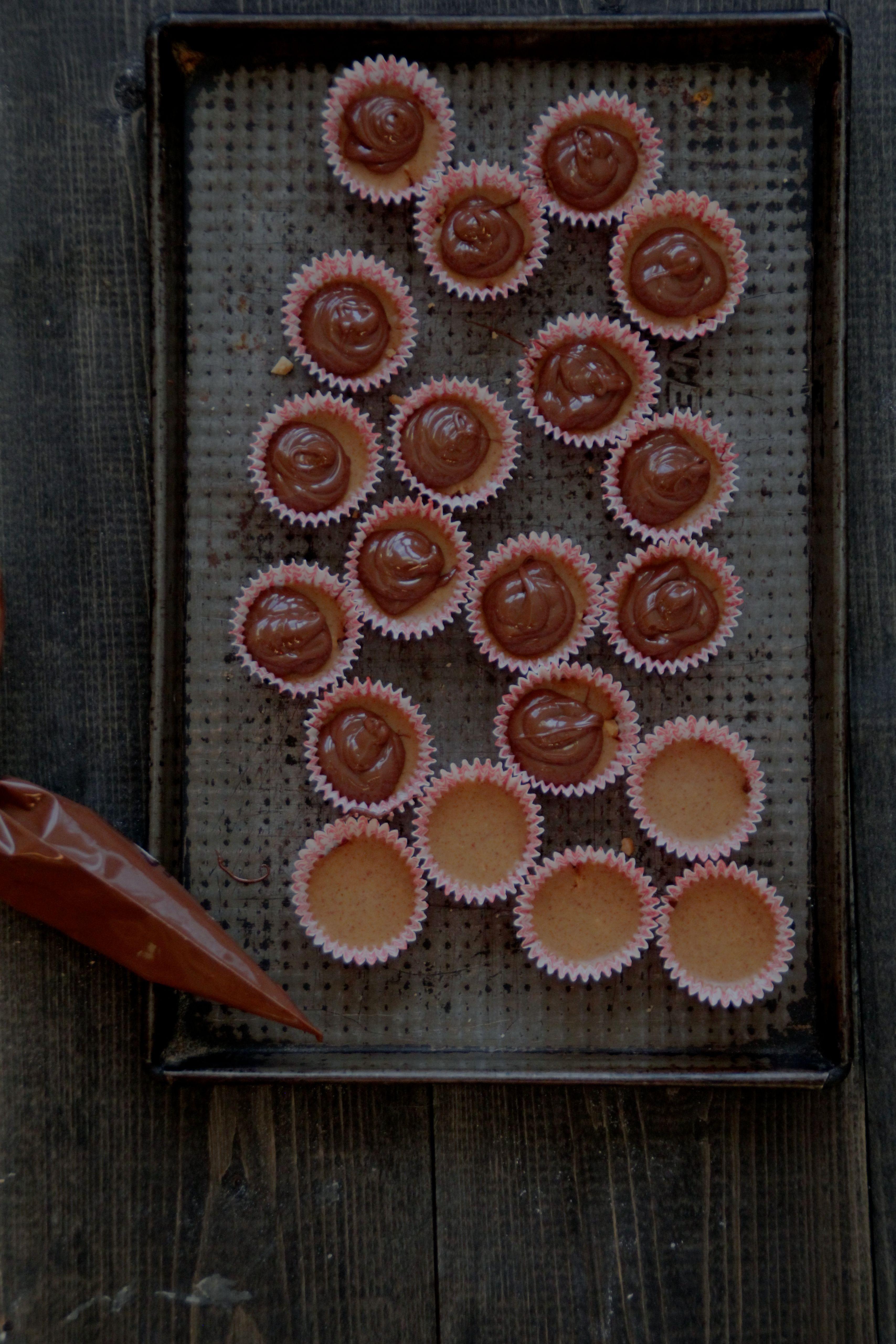 Sjokolade-peanøtt-konfekt