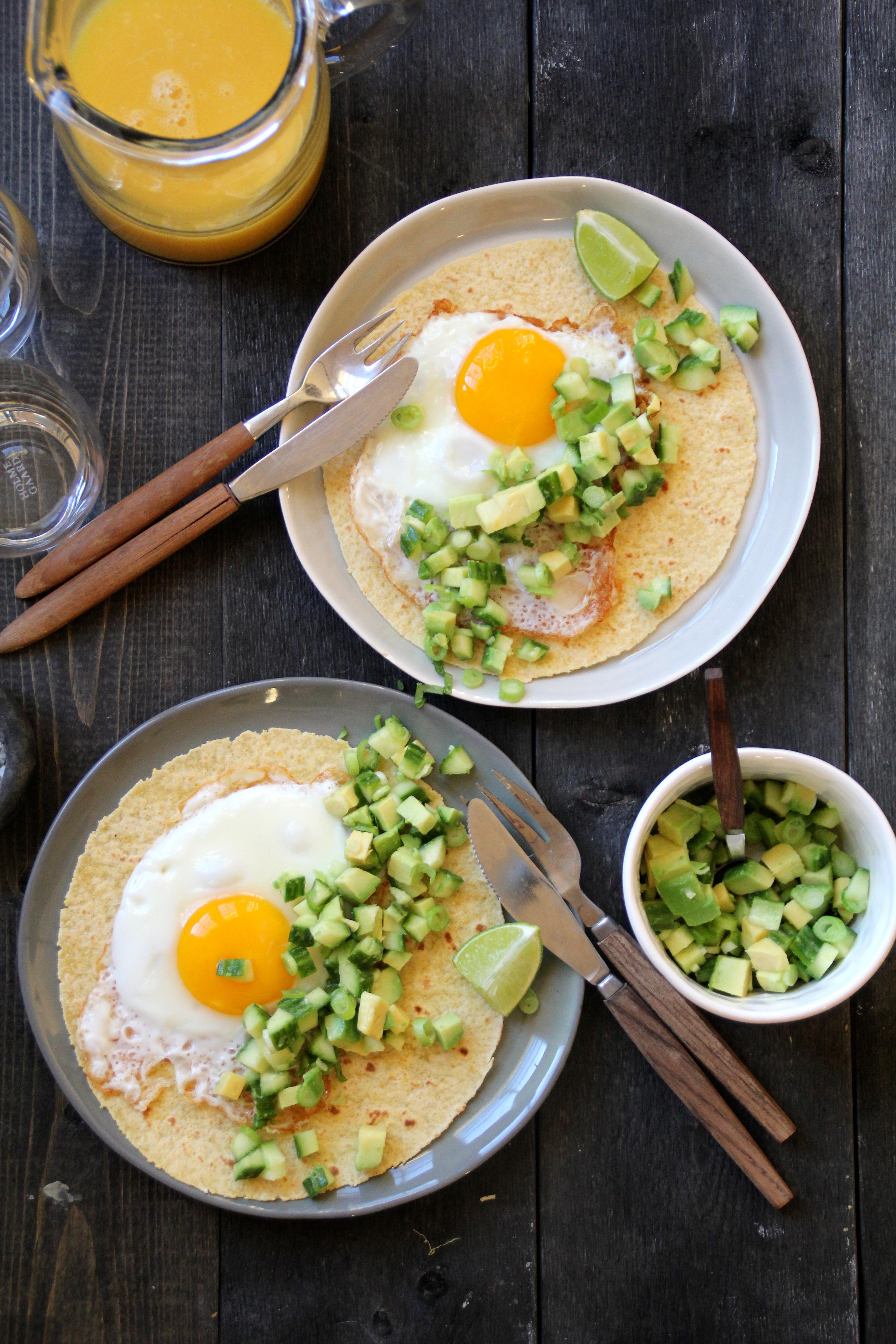 Frokost-taco med grønnsalsa
