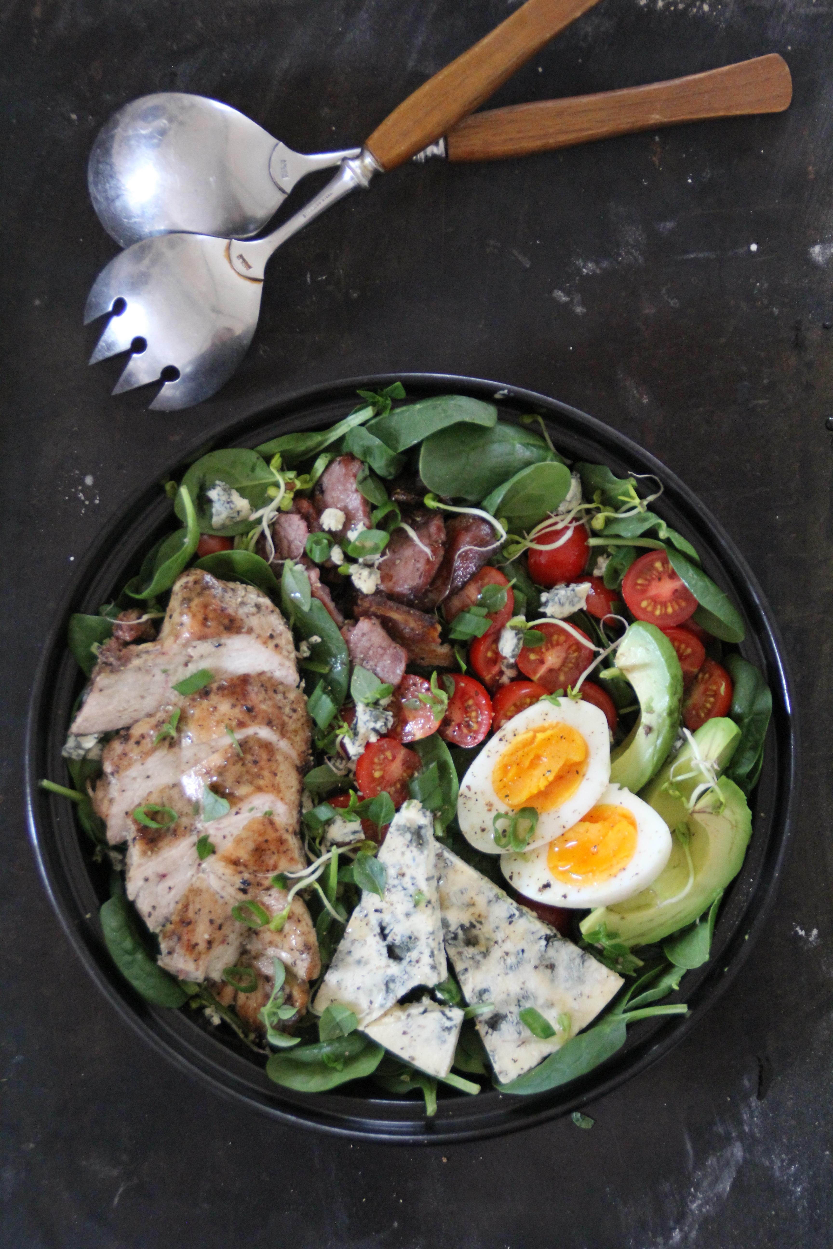 cobb salad med Selbu Blå