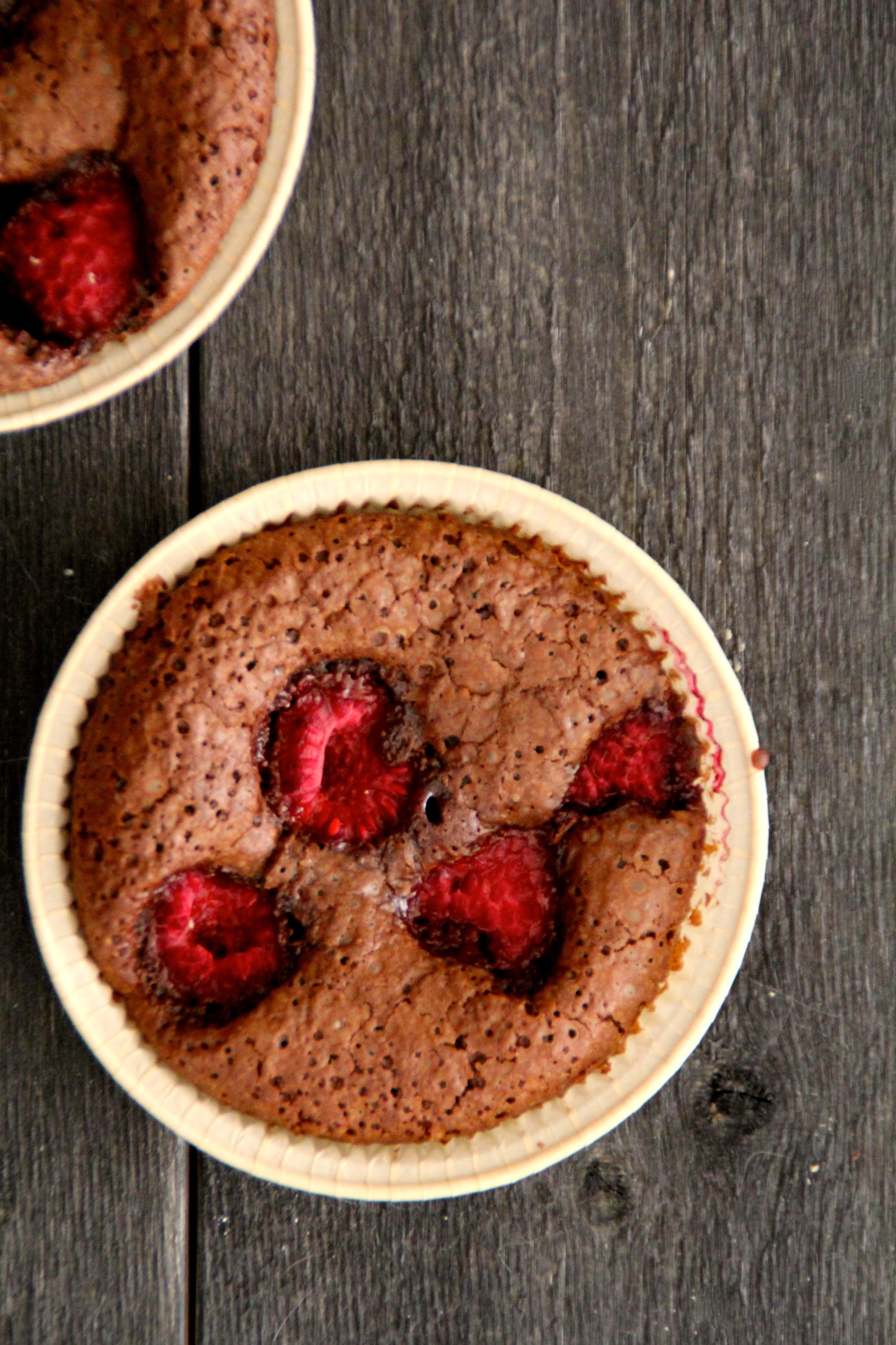 brownies med bringebær