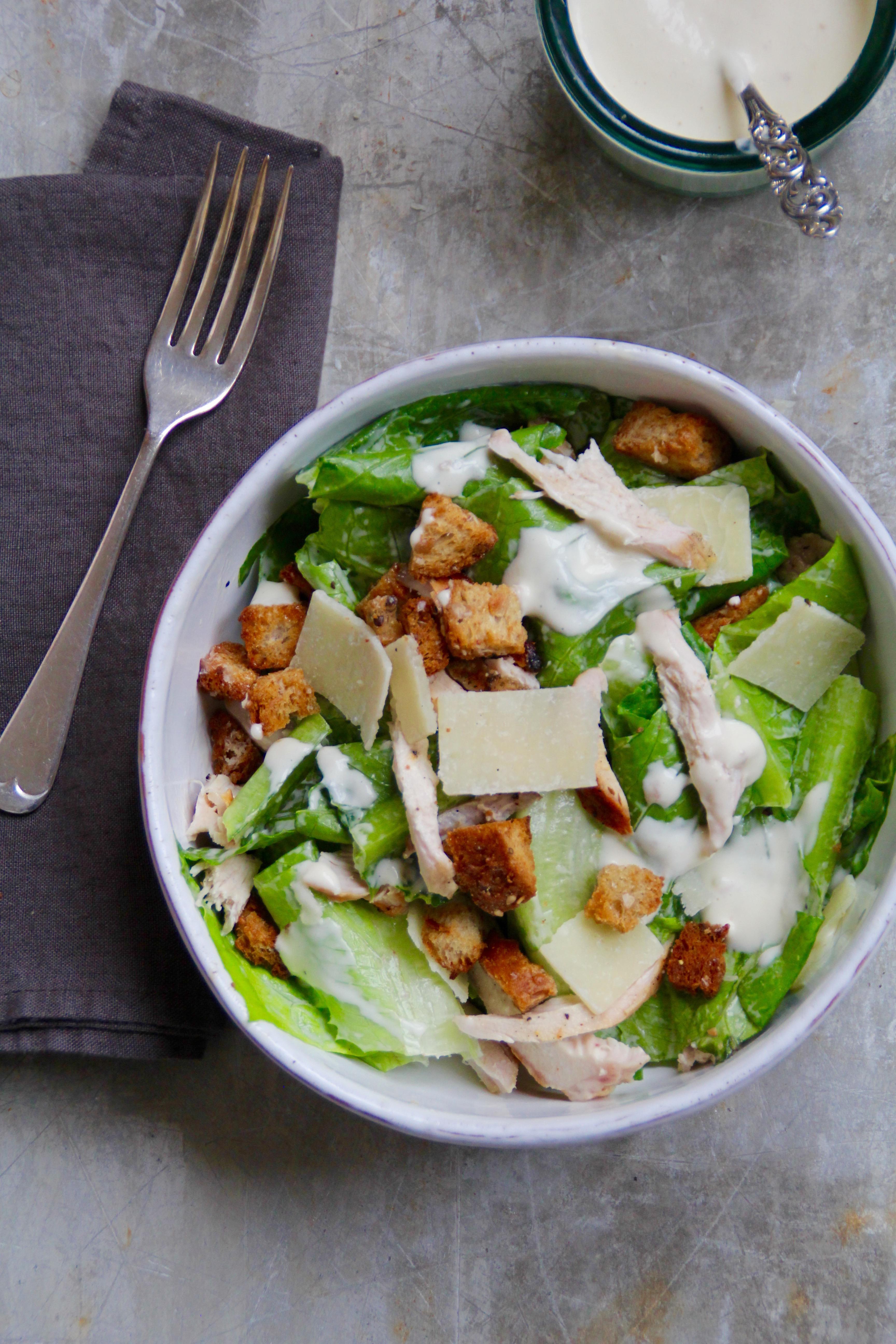 cæsar salat måltid