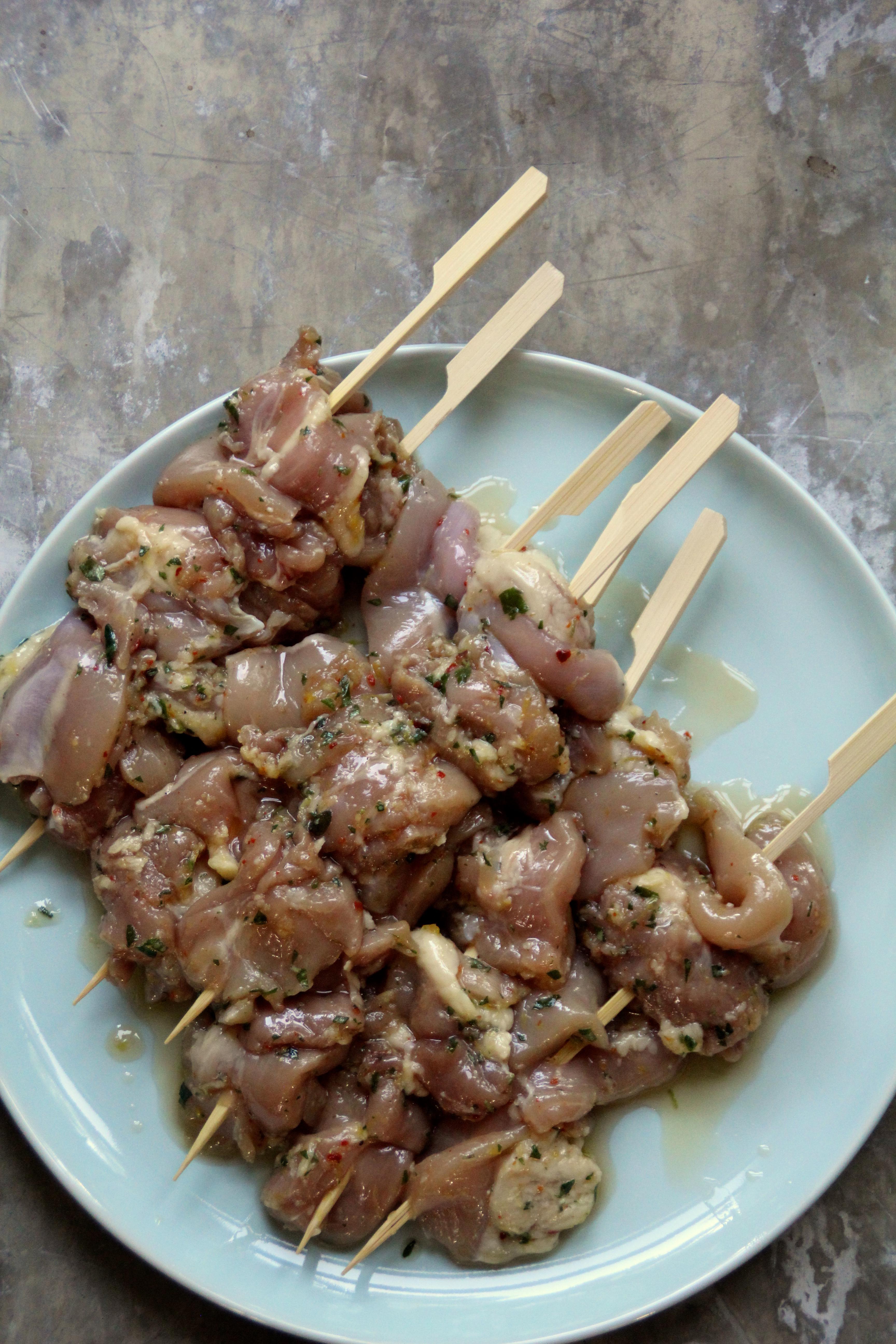 wraps med marinert kylling
