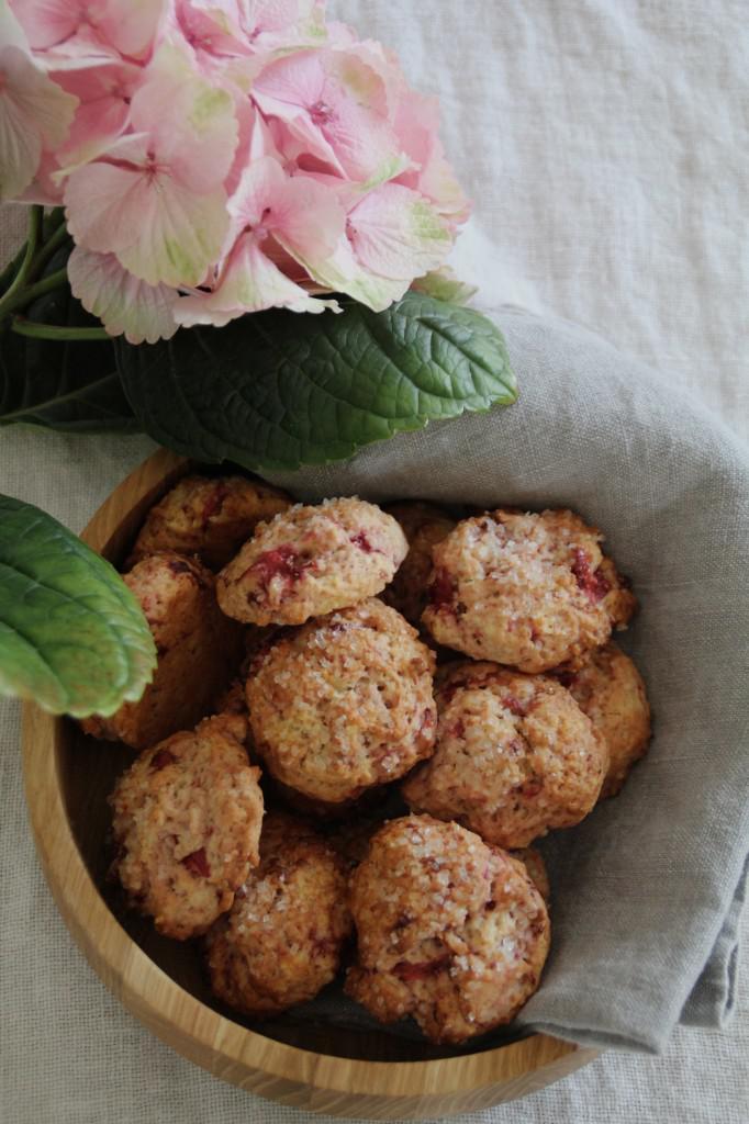 jordbærcookies