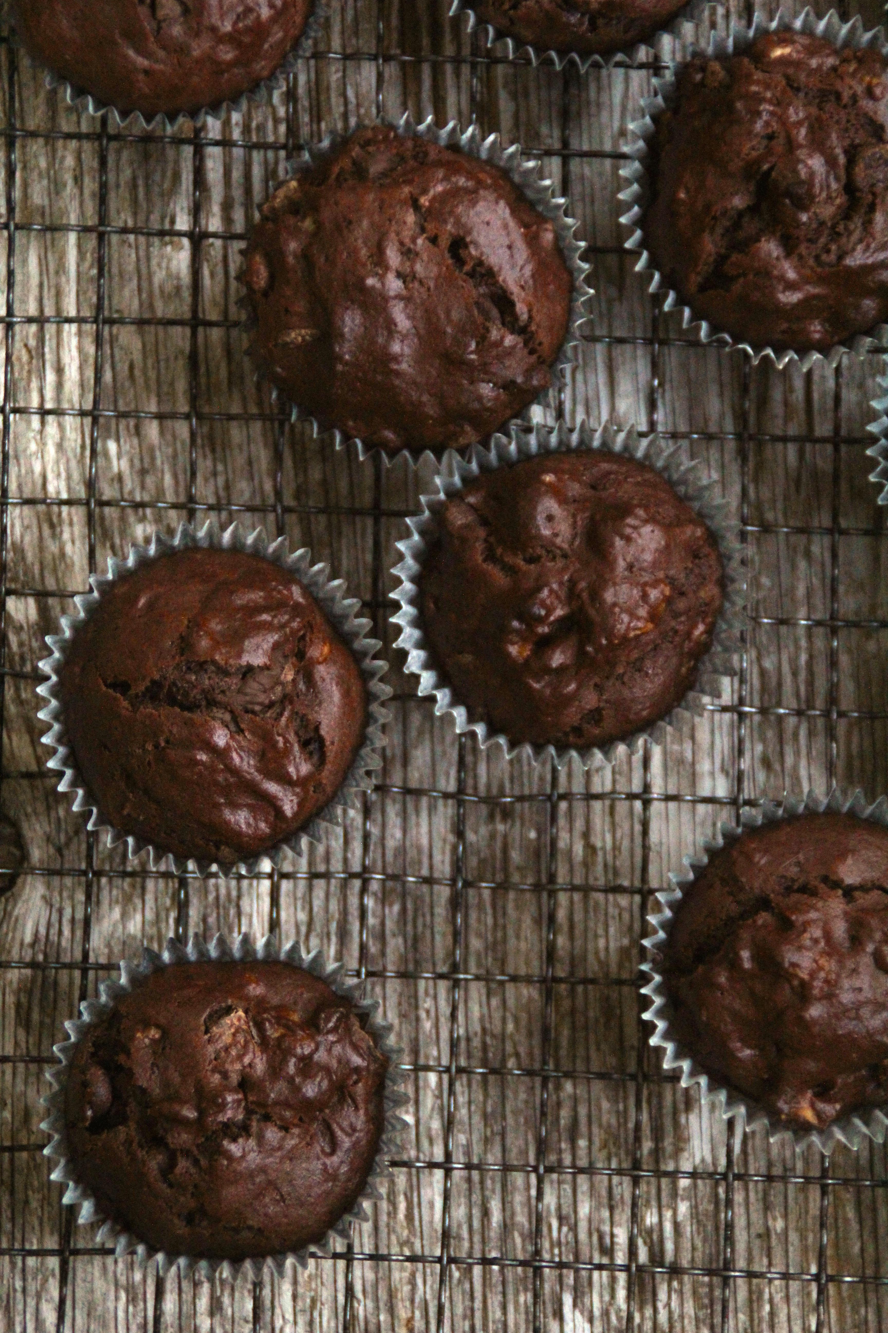 Skikkelige sjokolademuffins uten melk og smør