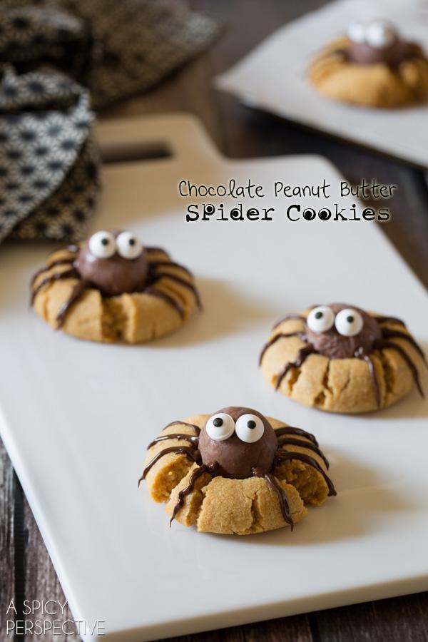 chocolate-peanut-butter-cookies-8-halloween oppskrifter