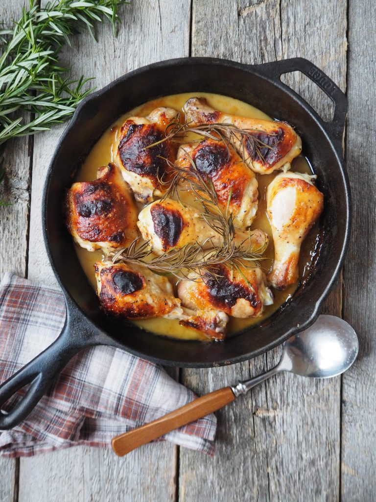 kylling med sennep og honning