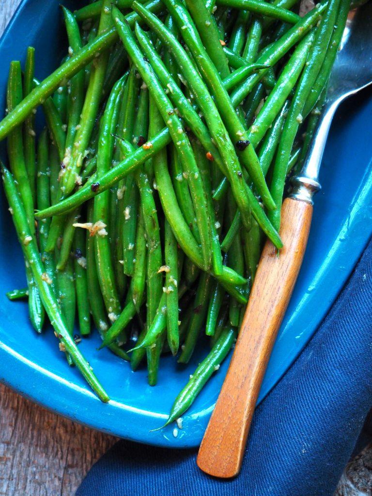 Raske grønne bønner med hvitløk og chili
