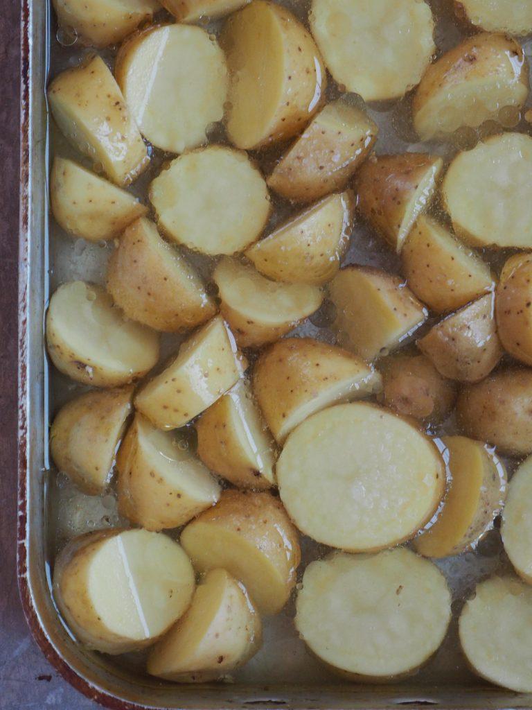ovnsbakte poteter med eddik
