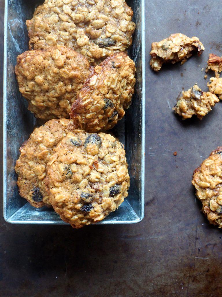 Havrecookies med rosiner