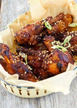 Kyllingvinger med ingefær og hvitløk