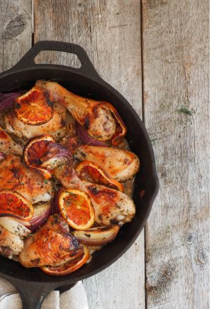 lettvint kylling i appelsinsaus