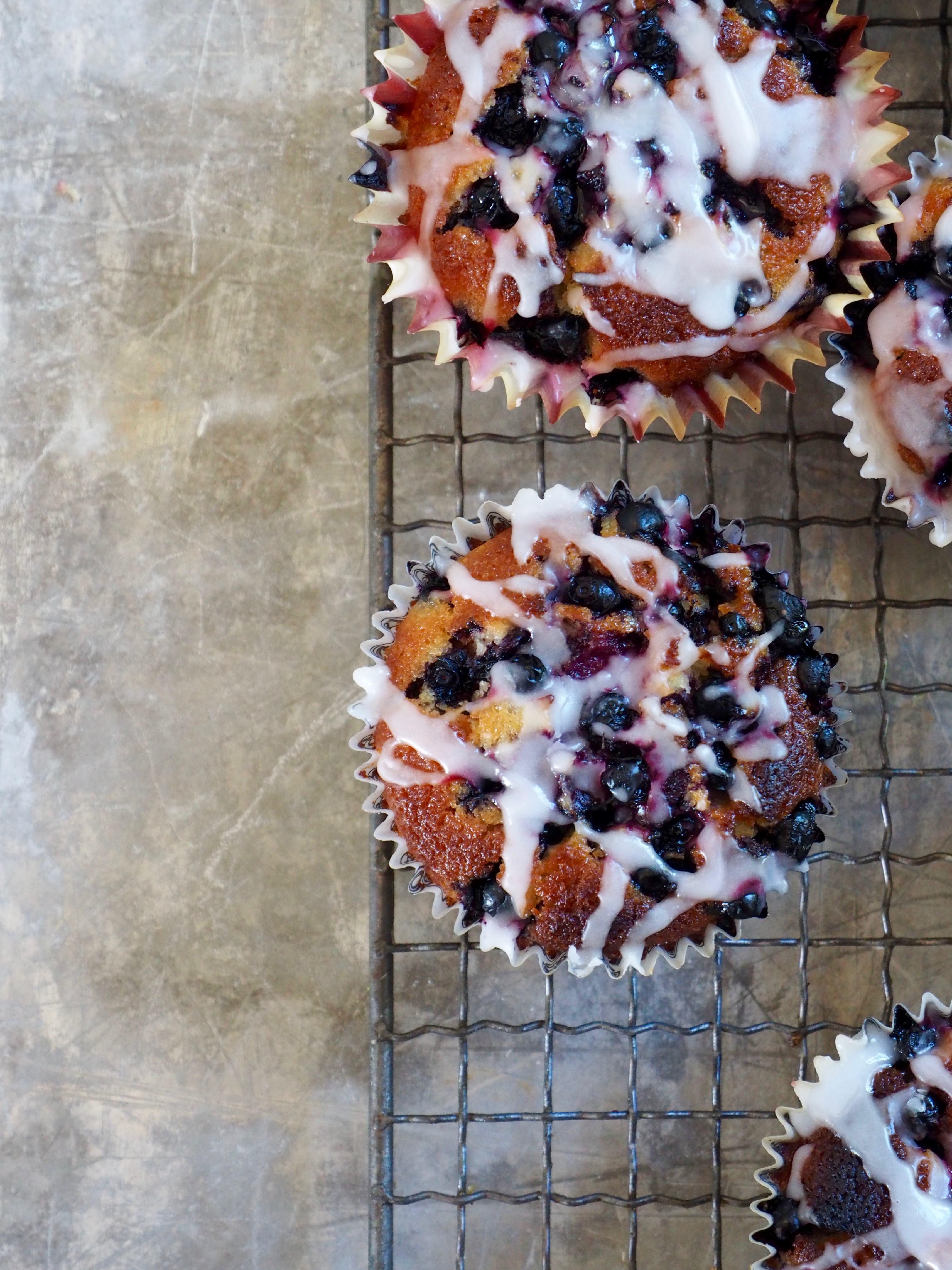 Muffins med blåbær og sitron