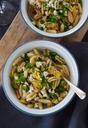 Pasta med squash og kylling - og mye annet godt