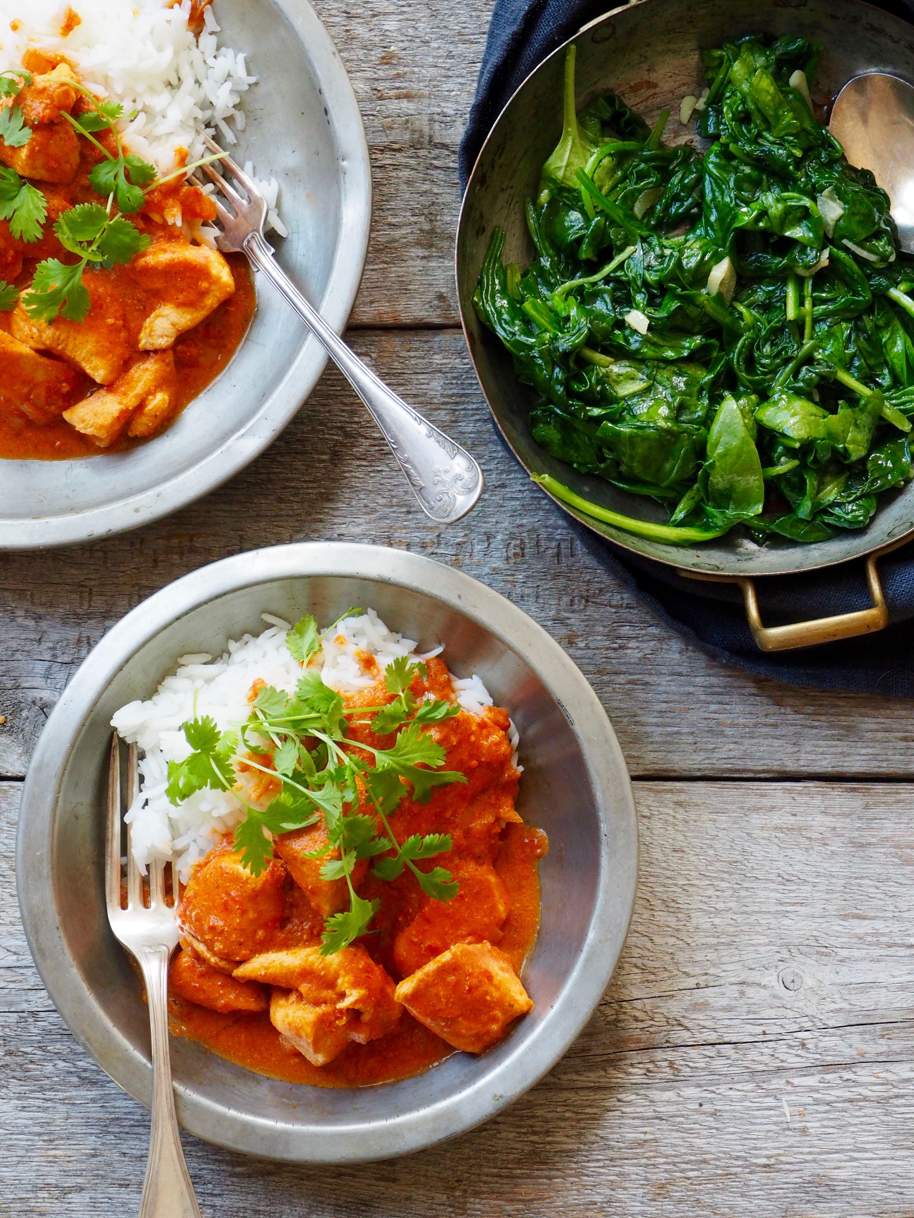 indisk mat oppskrifter kylling