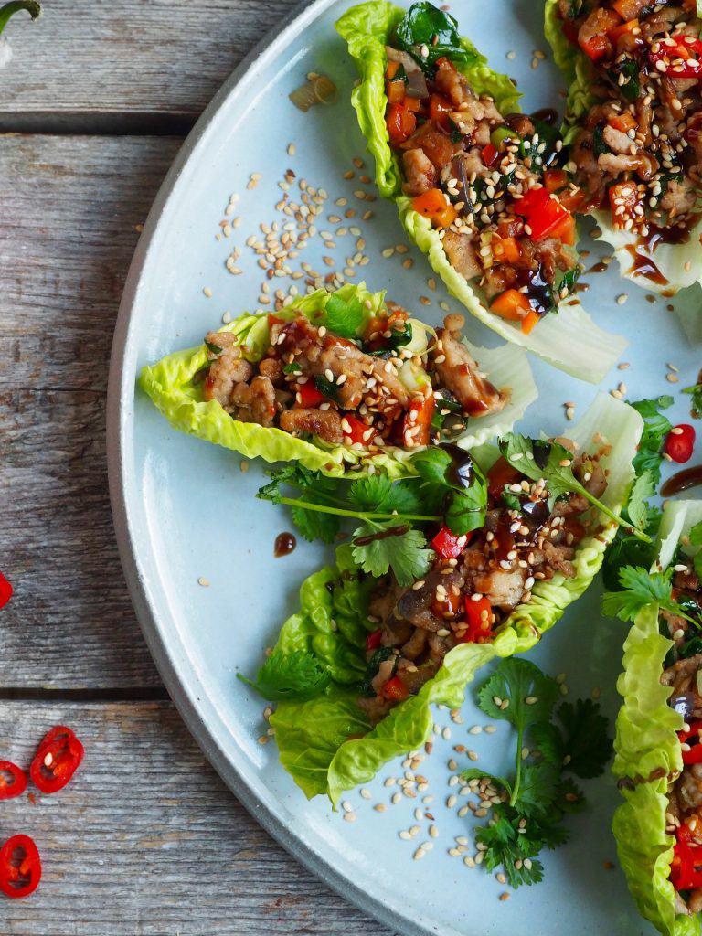Asiatiske wraps med kylling