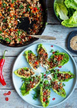 Asiatiske wraps med kylling - Mat På Bordet