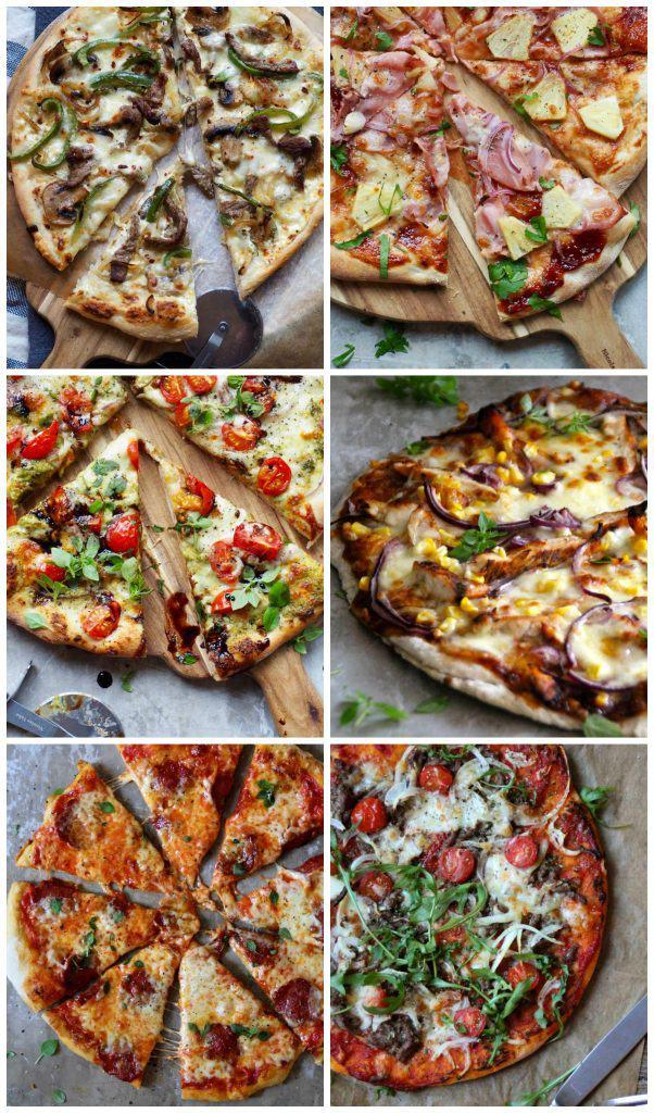 6 gode pizzaoppskrifter