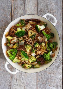 biff og brokkoli stir fry