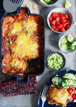 gratinerte enchiladas