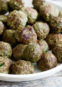 grønne kjøttboller