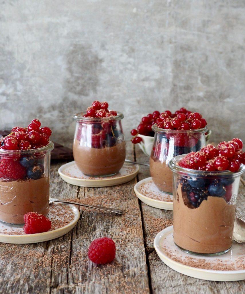 Hjemmelaget sjokoladepudding med 2 ingredienser
