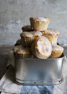 sitronmuffins med valmuefrø