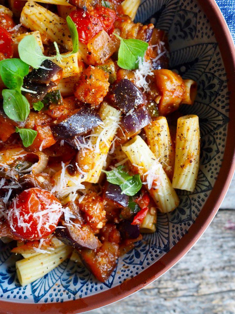 pasta med aubergine