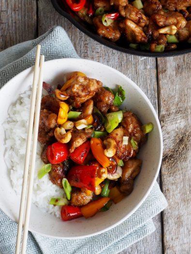 Spicy kylling med paprika og chili