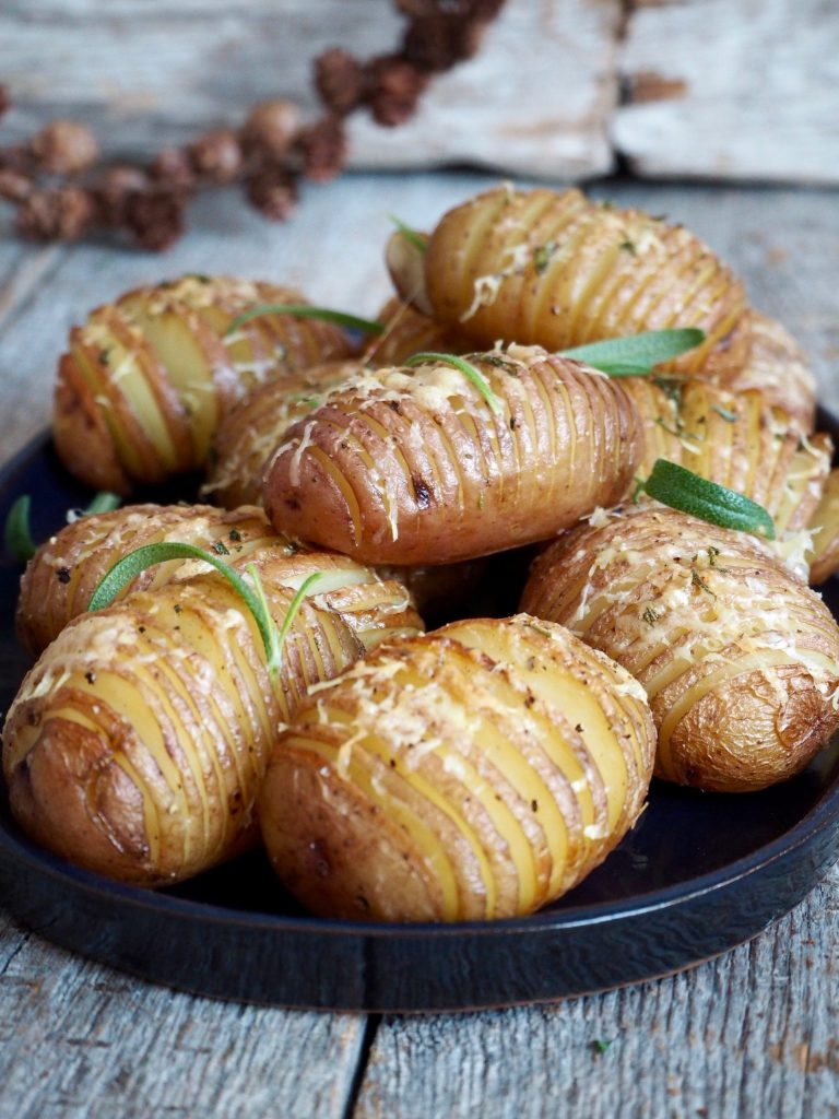 Hasselback poteter